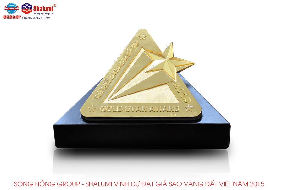 Sông Hồng Group Shalumi vinh dự đạt giải sao vàng Đất Việt năm 2015