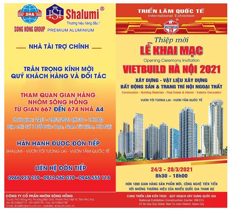 Thư mời tham dự triển lãm Vietbuild Hà Nội tháng 3 năm 2021